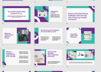 Examples of our recent work on Business Templates
